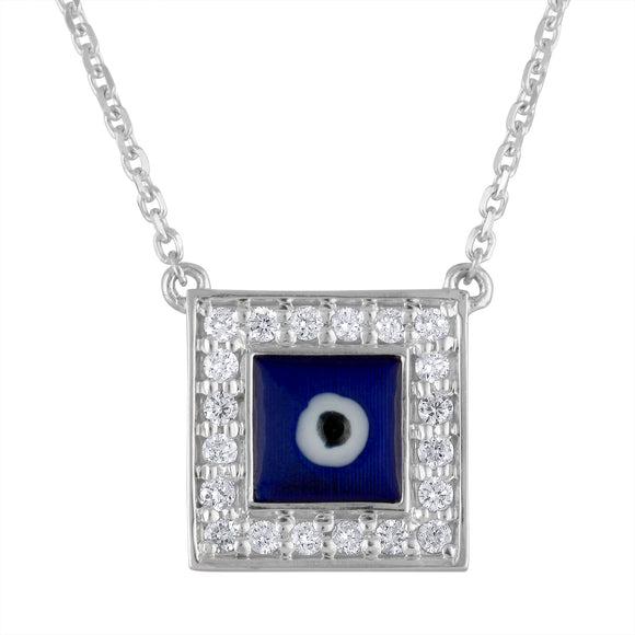 Evil Eye Square Necklace