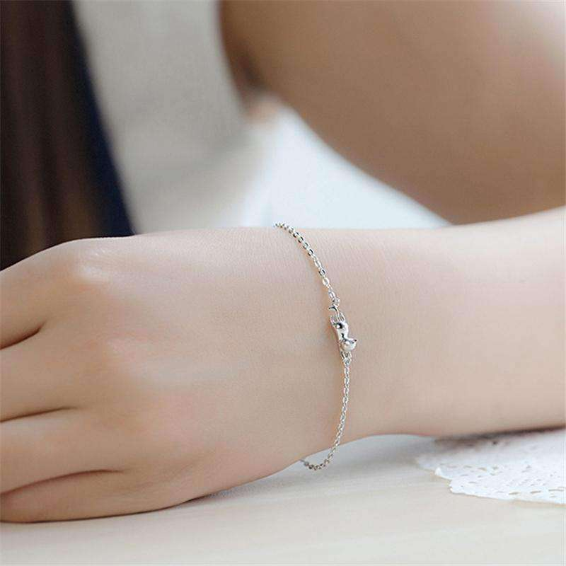 Bracelet chat-dorable en argent 925
