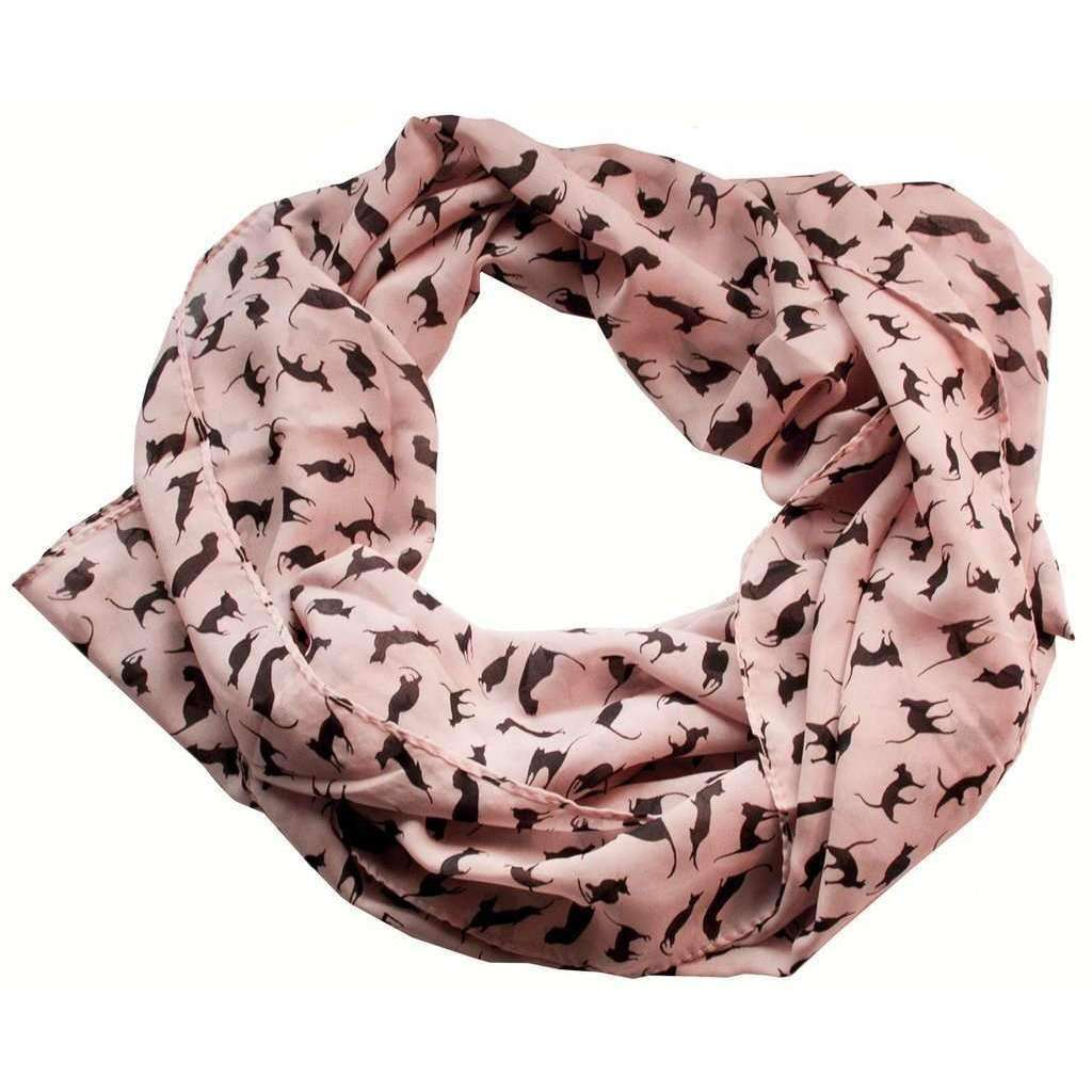 Foulard motifs Chats - Rose - Le chat Mallow