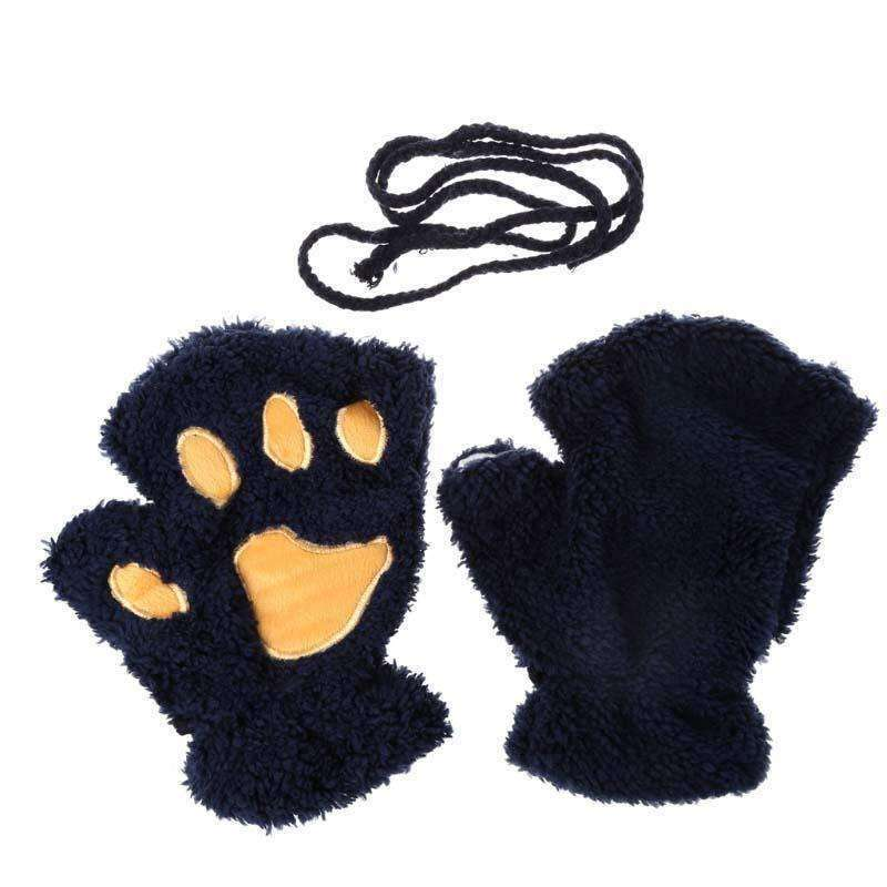 Gants pattes de chat - Orange - Le chat Mallow