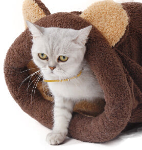 Sac de couchage Chat - Marron - Le chat Mallow