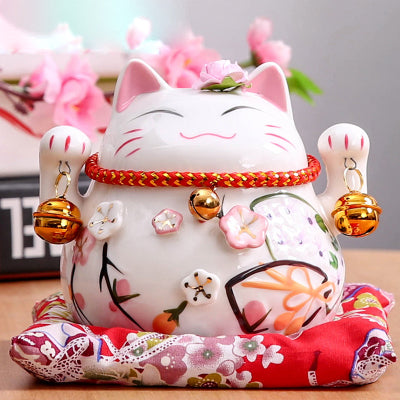 Tirelire Maneki Neko en porcelaine:C:La Fun Boutique