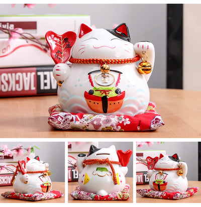 Tirelire Maneki Neko en porcelaine:La Fun Boutique