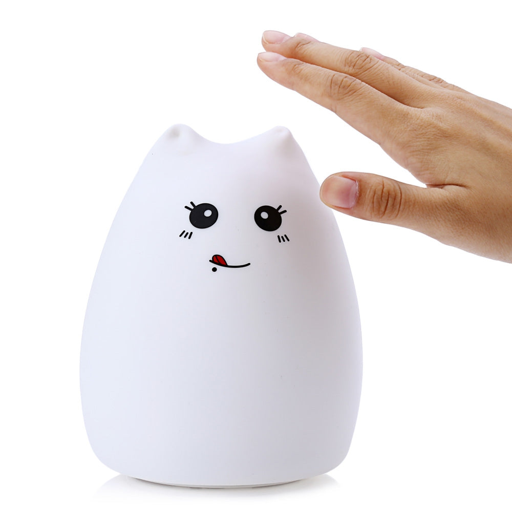 Veilleuse chat en silicone - Le chat Mallow