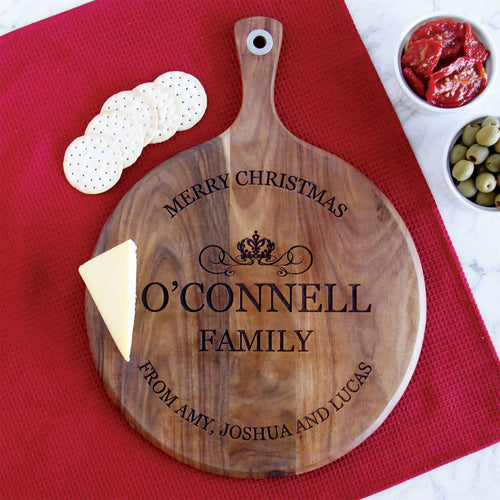 Decorative Crown Family Serving Board Wangaratta Personalised Boards