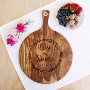 Floral Couple Serving Board