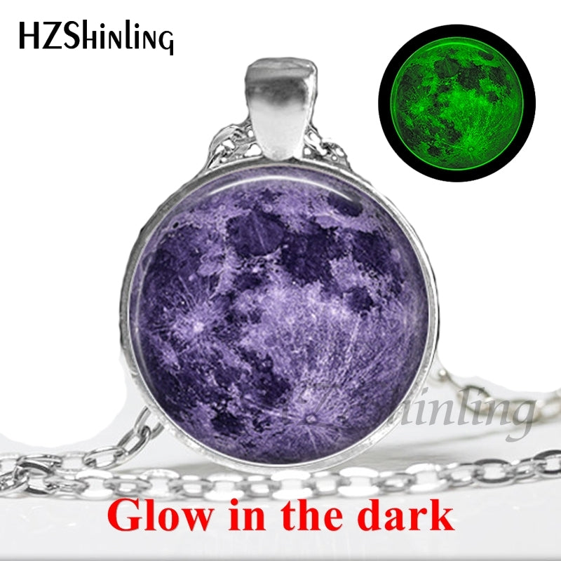 Lunar Eclipse Necklace Glow in the dark Pendant