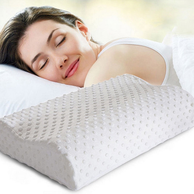 2017 Orthopedic Neck Pillow Fiber Slow Rebound Memory Foam Pillow Cervical Health Care Bedding Orthopedic Latex Neck Foam Pillow