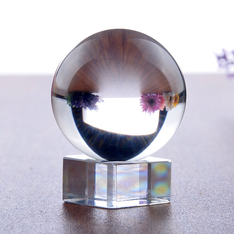 8 New Crystal Clear Ball Sphere Asian Quartz 40mm w/ Stand