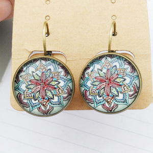 Vintage Bohemian Glass Earrings