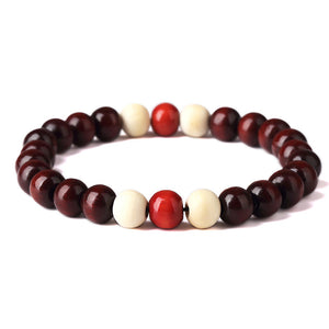 Stylish Natural Wooden Beaded Bracelet