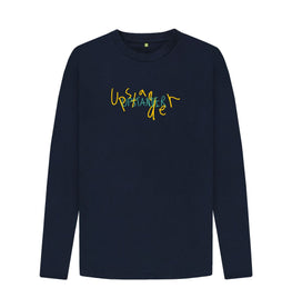 Navy Blue Upstander Long Sleeve Tee (Unisex)
