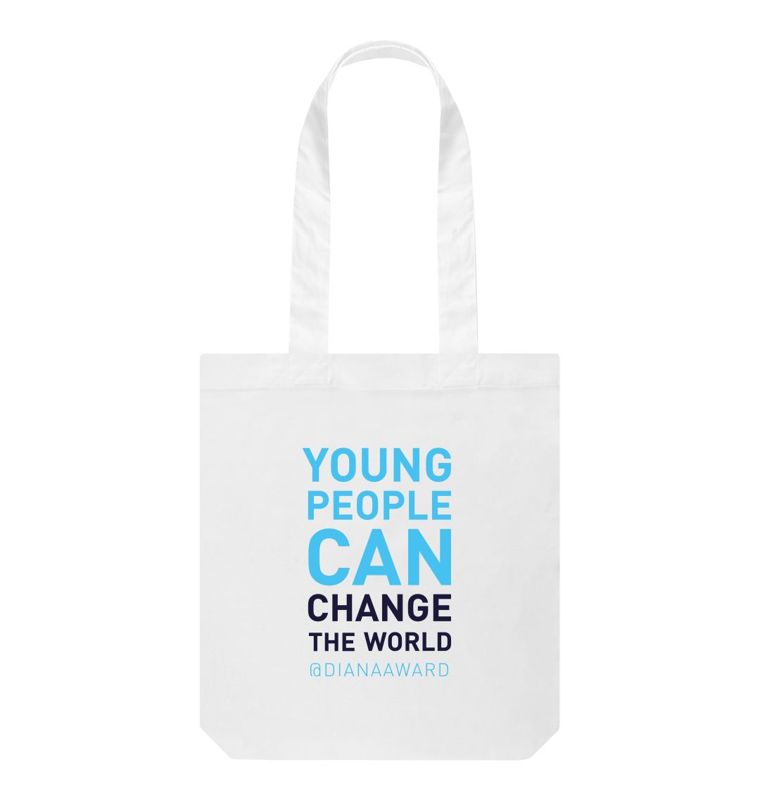 White Change the World Tote