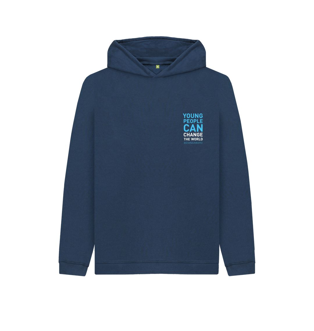 Navy Blue Change the World Hoodie (Kids) (TO BE WHITE)