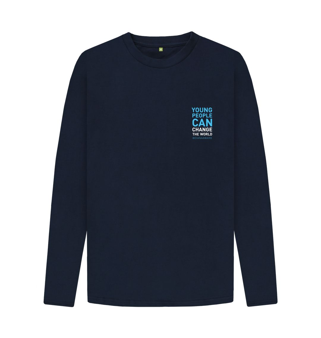 Navy Blue Change the World Long Sleeve Tee (Navy\/Unisex)