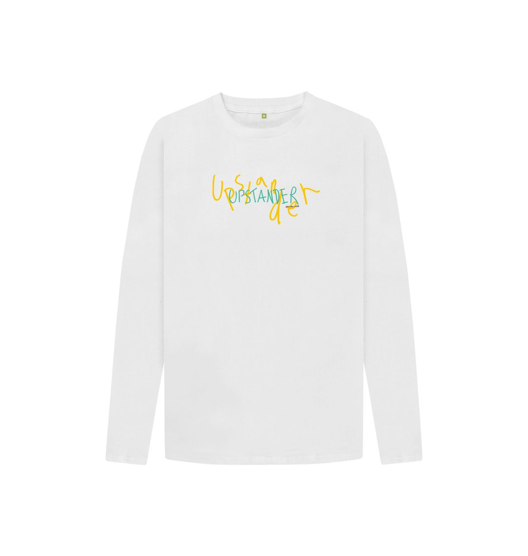 White Upstander Long Sleeve Tee (Kids)