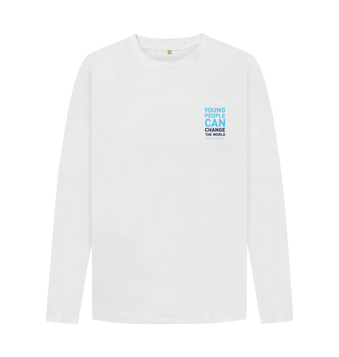 White Change the World Long Sleeve Tee (Unisex)