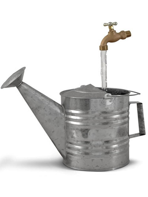 Basic Galvanized Watering Can Fountain