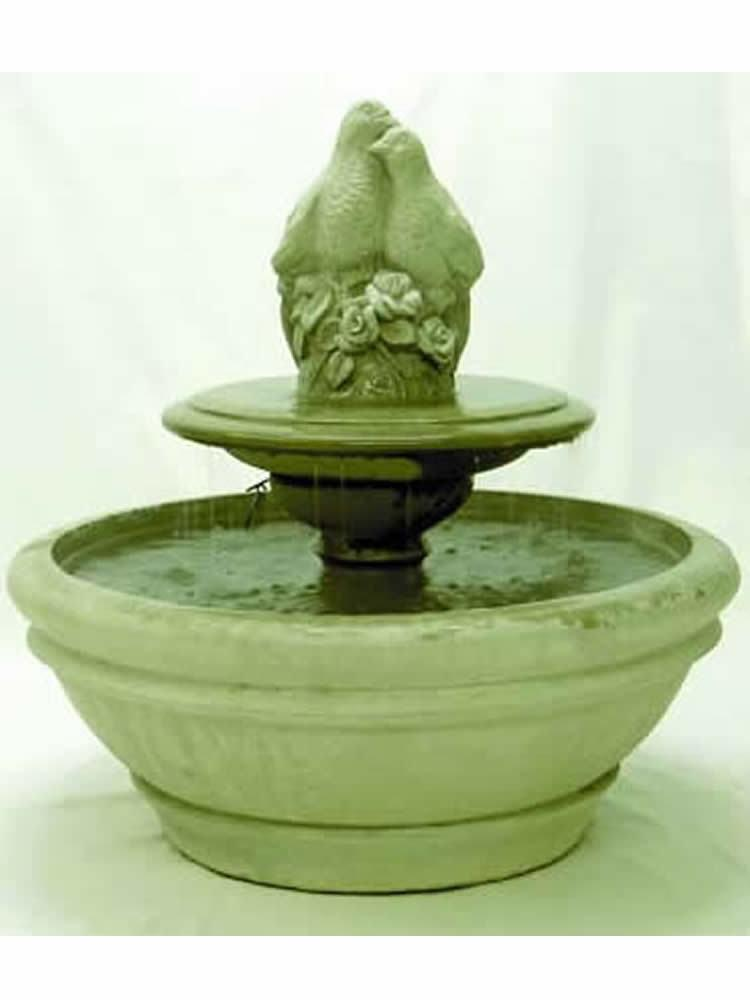 Terrace Fountain with Birds on Tier