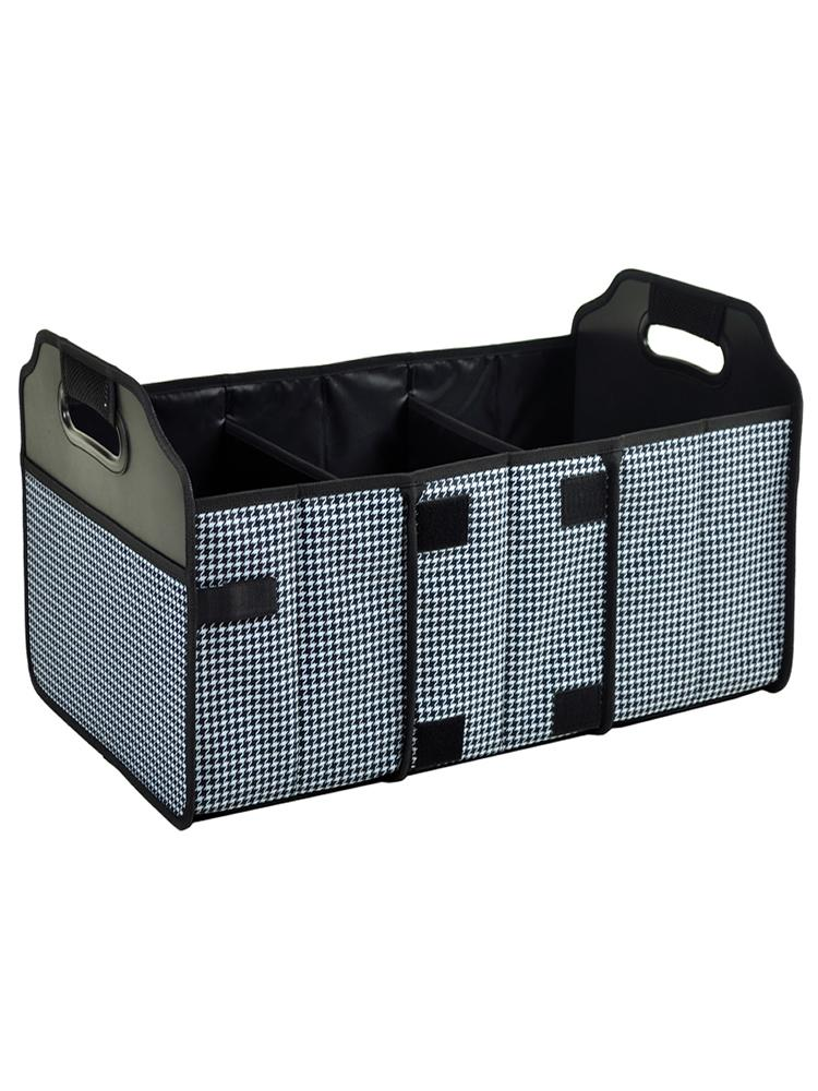Trunk Organizer, Foldable  -Houndstooth