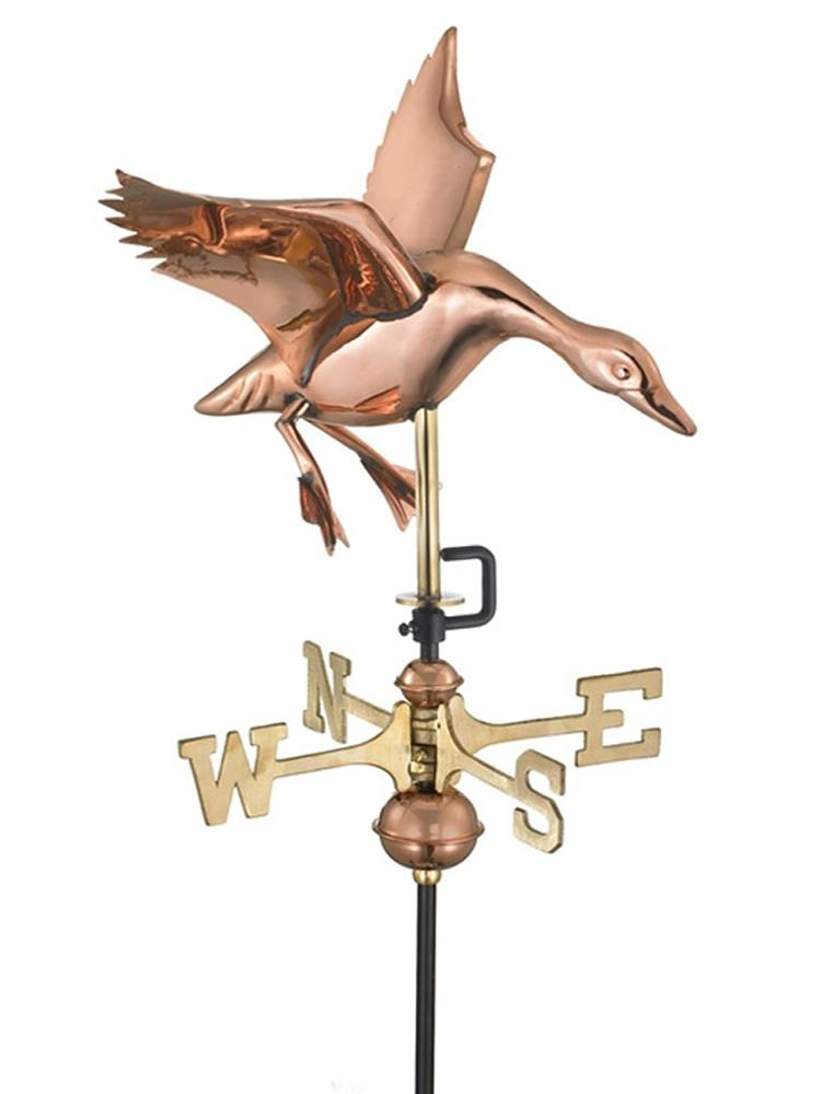 Copper Make Way for Landing Weather Vane