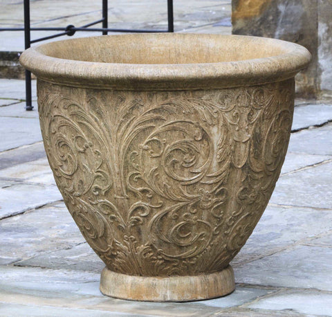 Set of 2 Arabesque Medium Planters with FREE Plants