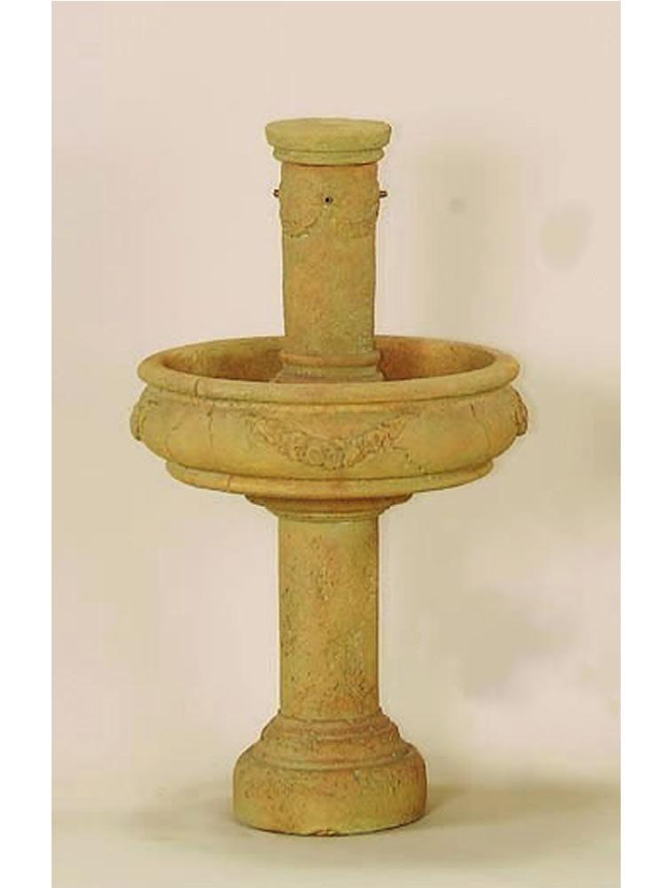Rosa Column Fountain With Tall Base