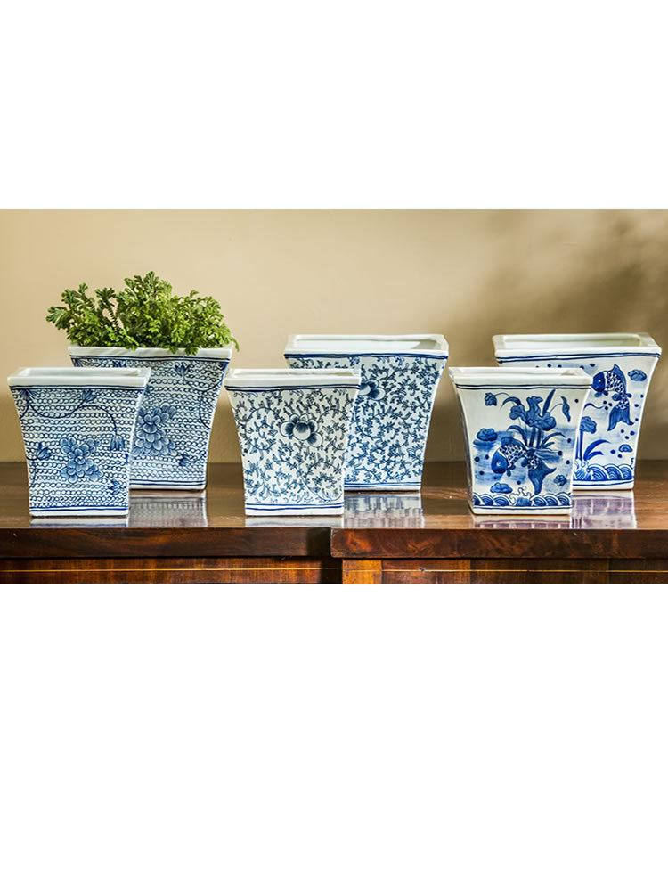 Square Flared Planter Set of Six