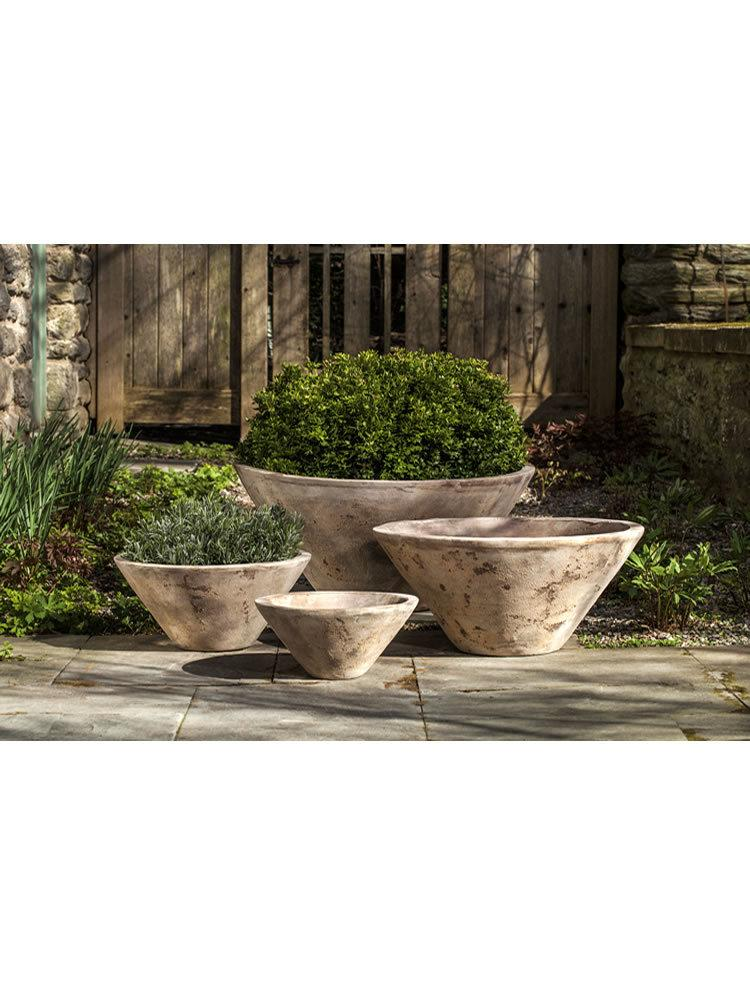 Brasilia Planter Set of Four in Antico Terra Cotta