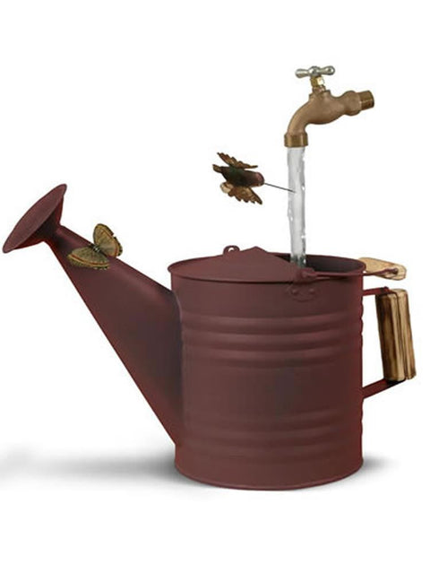 Deluxe Watering Can in Rust