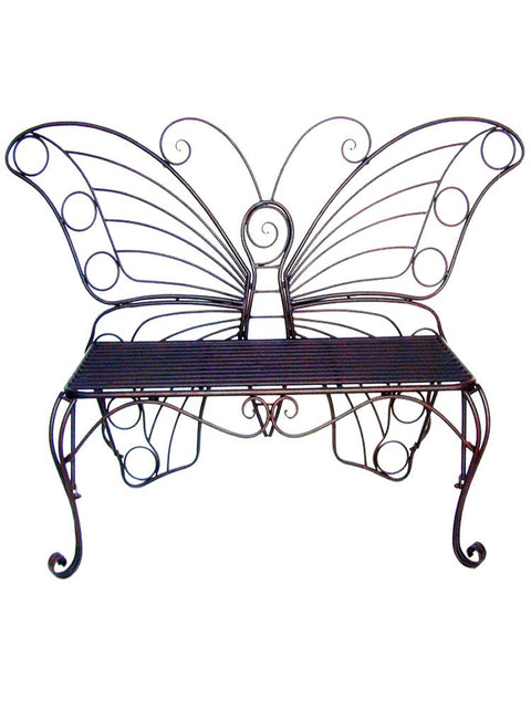 Butterfly Bench in Black