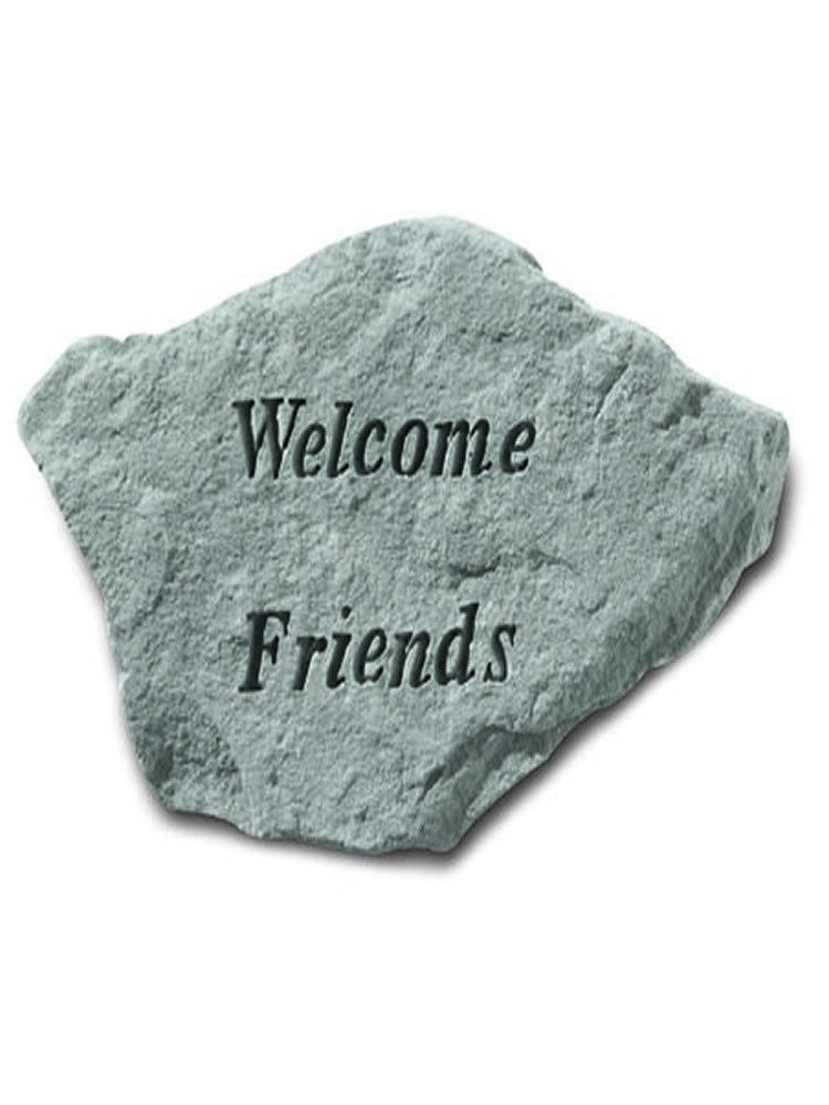 Welcome Friends Stone Plaque