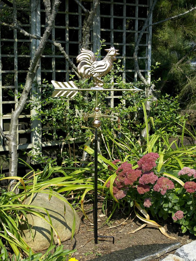 Wake Up Call Copper Garden Weather Vane