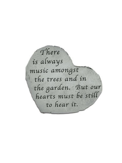 Music Amongst the Trees Mini Heart Garden Stone/Plaque