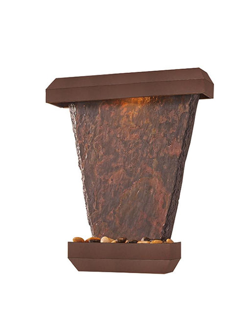 Hanging Slate Wall Fountain in Copper Vein