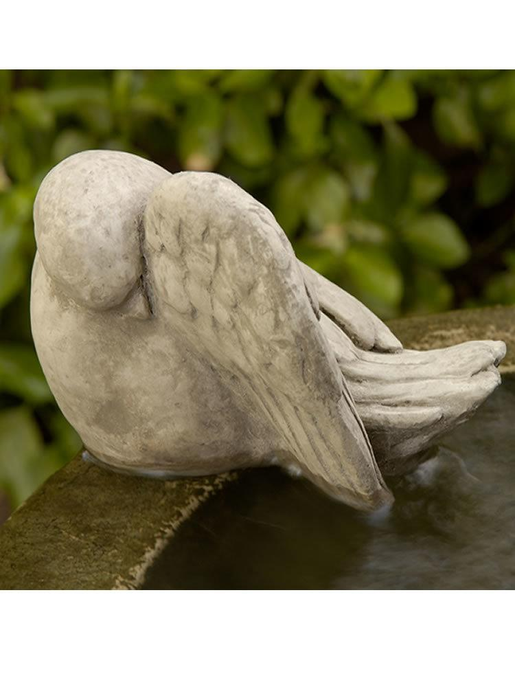 Bathing Bird Garden Statue