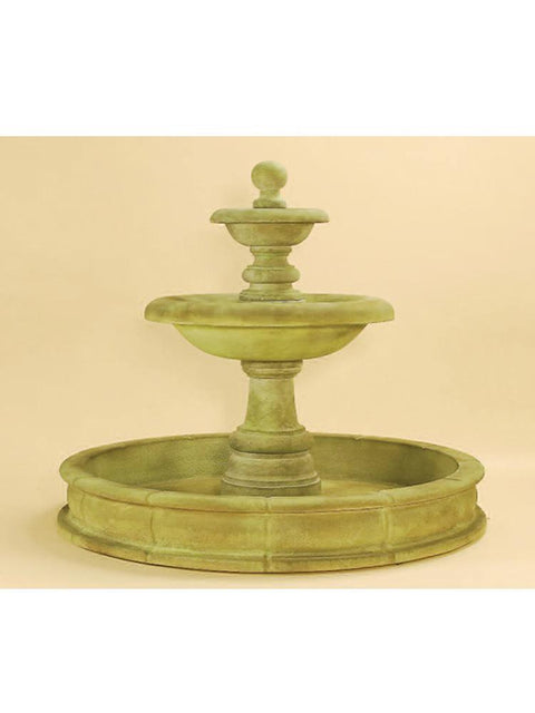 Villa Santini Two Tier Pond Fountain Tall