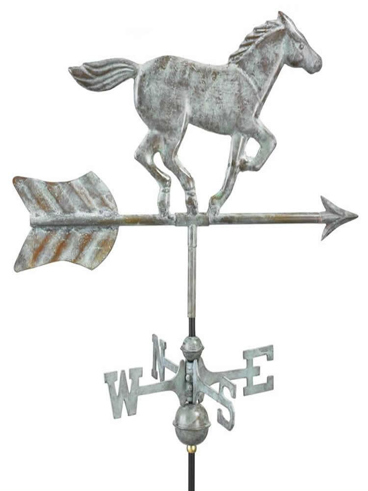 Running Horse Garden Weather Vane