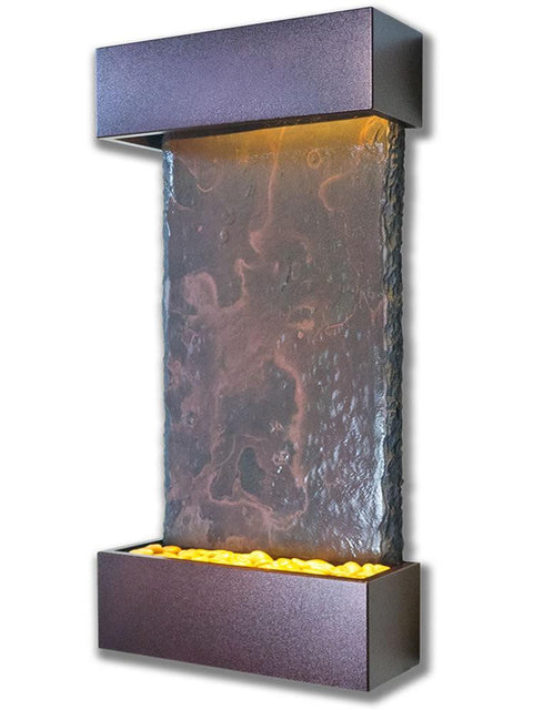 Medium Nojoqui Falls Wall Fountain in Copper Vein
