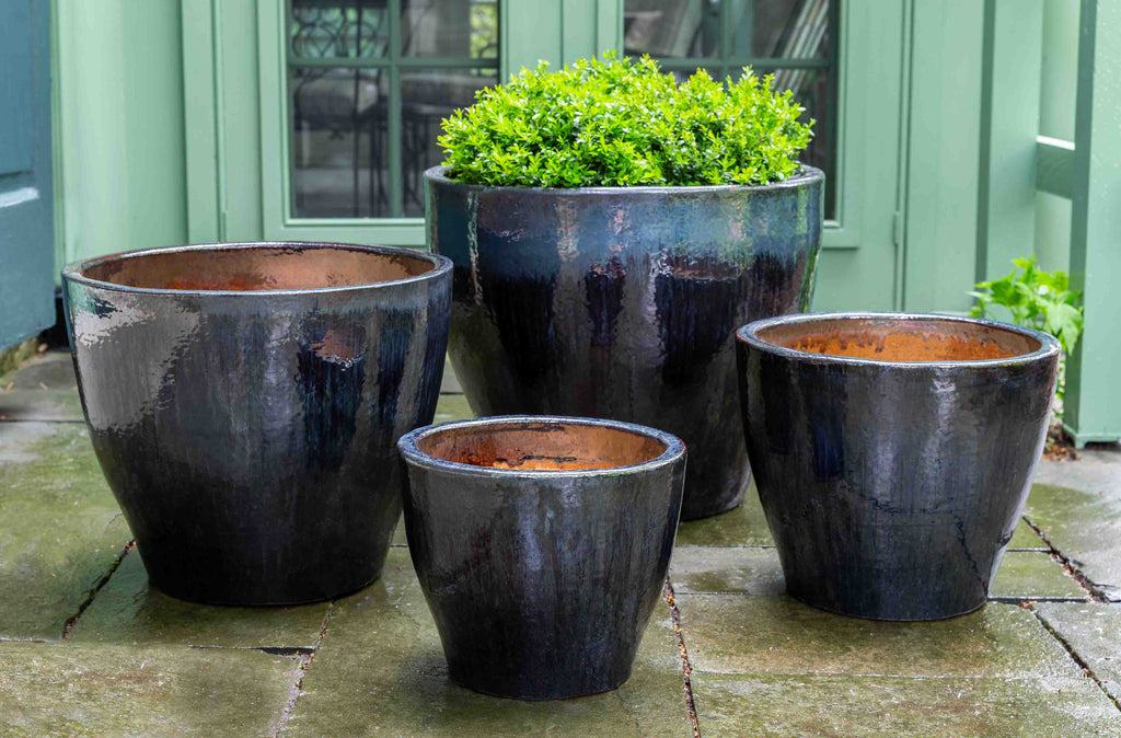 Amal Planter - Set of 4 in Midnight Sea