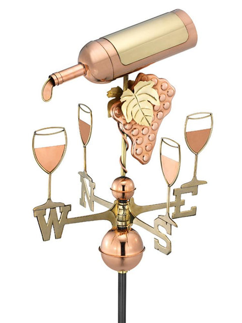 Wine Time Standard Weather Vane
