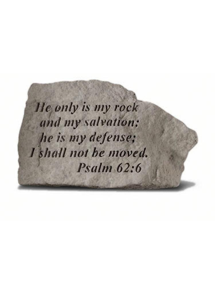 Psalm 62:6 Inspirational Garden Stone/Plaque