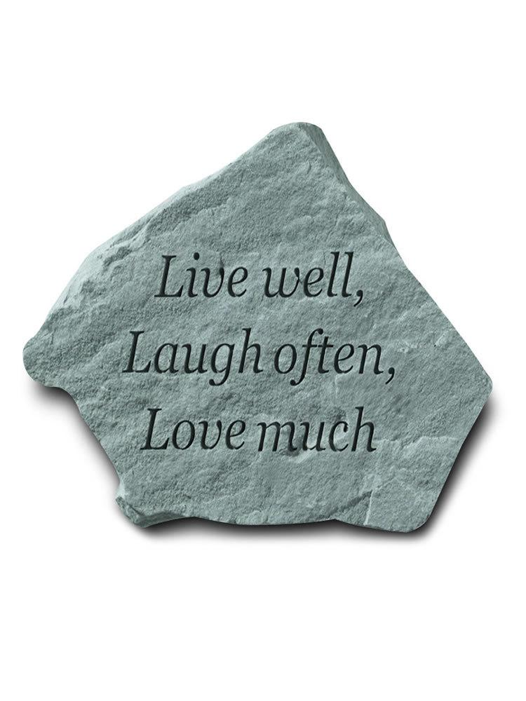 Live, Laugh, Love Garden Accent Rock