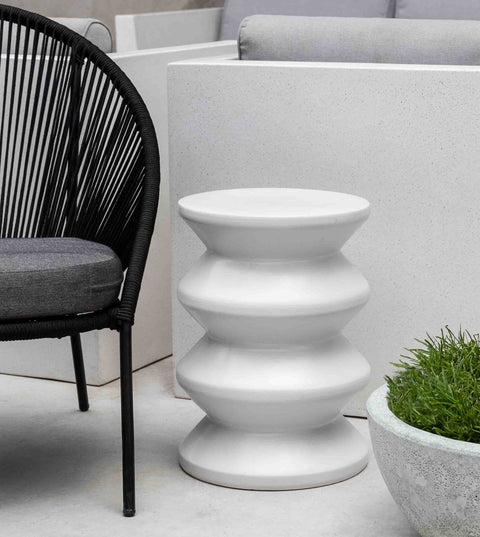 Zigzag Garden Table - White