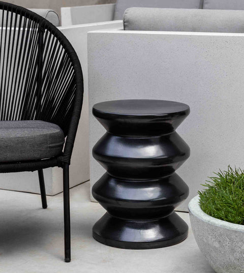 Zigzag Garden Table - Matte Black