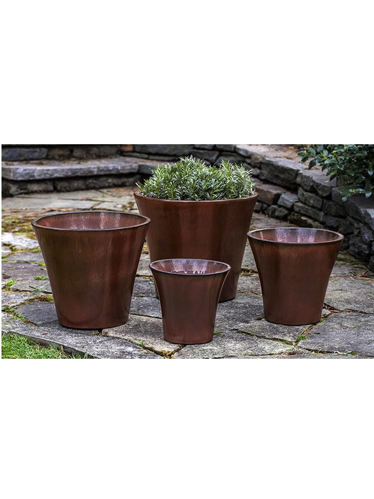Marisa Planter Set of Four in Maple Red