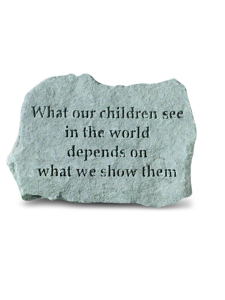 What Our Children See Mini Garden Stone/Plaque