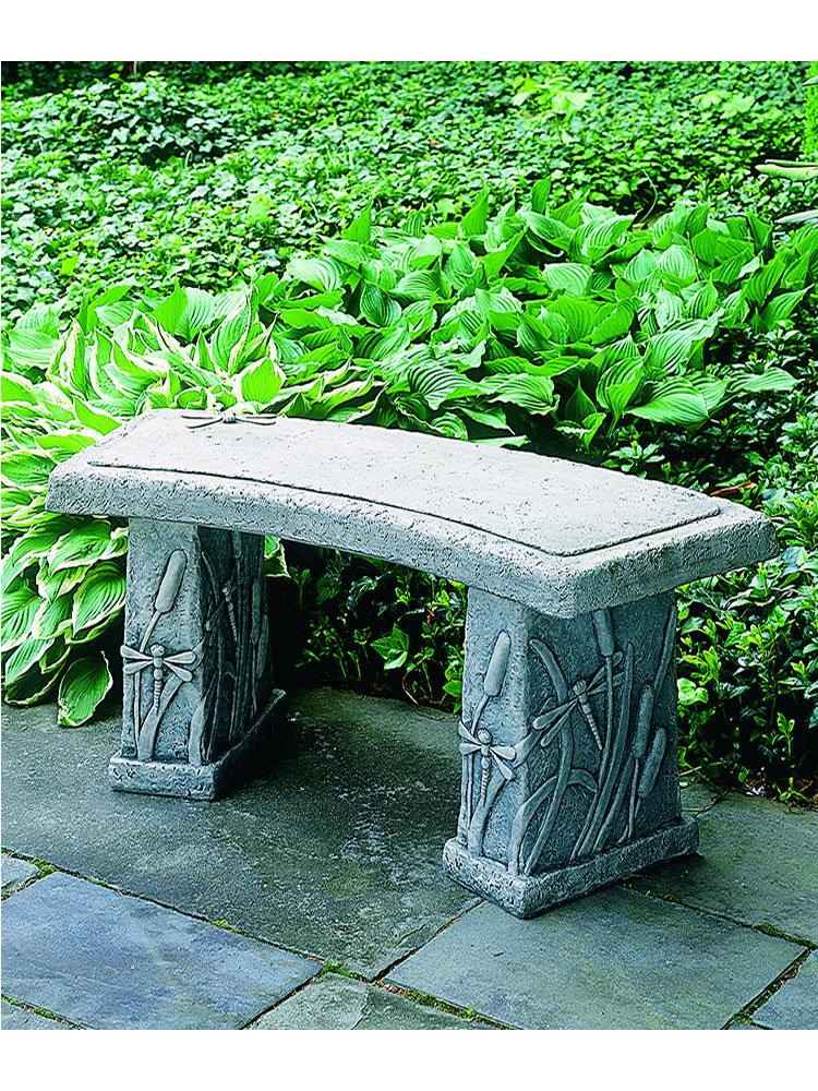 Curved Dragonfly Garden Bench