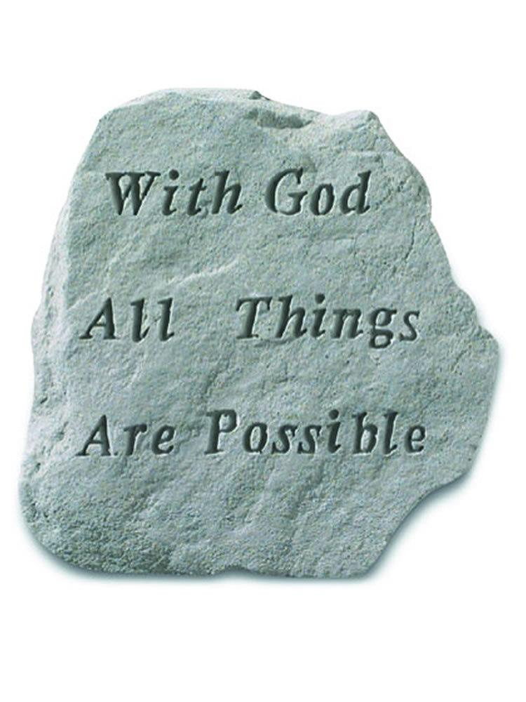 All Things are Possible Stone Plaque