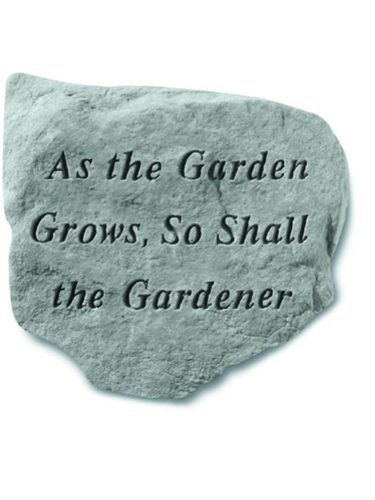As the Garden Grows Stone Plaque